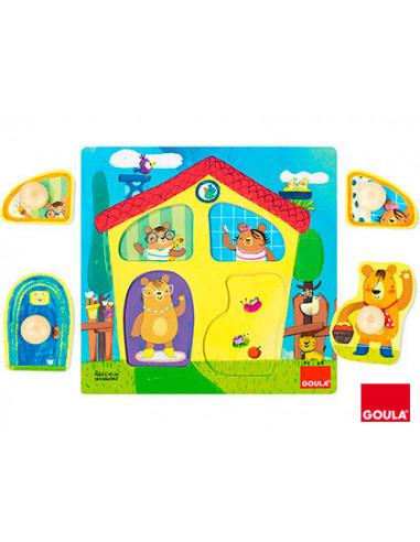 Enhebrar trazos juego educativo Diset 55017 Goula