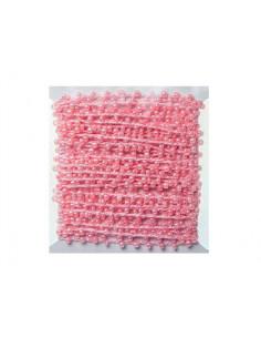 Hilo con perlas color rosa...