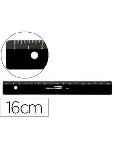 Regla m+r 16 cm plastico negra