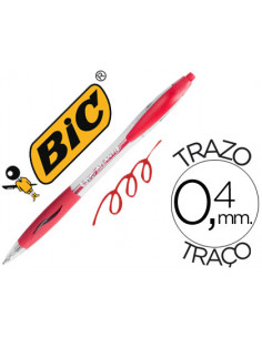 Boligrafo bic atlantis rojo...