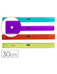 Regla m+r 30 cm plastico...