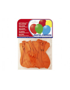 Globos pastel naranja bolsa...