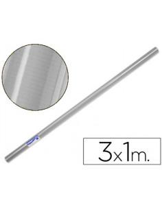 Papel kraft plata rollo 3x1mt