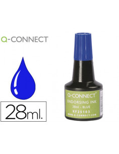Tinta tampon q-connect azul...