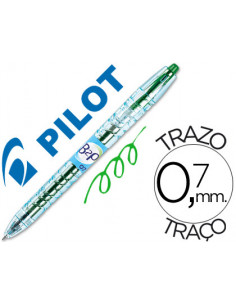 Boligrafo pilot gel b2p verde