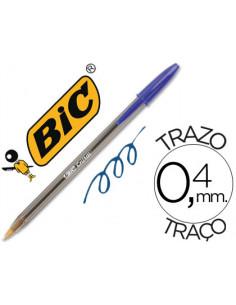Boligrafo bic cristal azul...