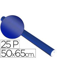 Papel metalizado azul rollo...