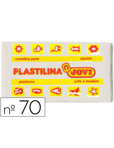 Plastilina jovi 70 blanca...