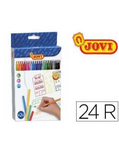 Rotulador jovi caja 24 colores
