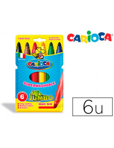 Rotulador carioca jumbo c/6...