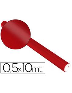Papel metalizado rojo rollo...
