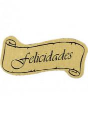 Etiqueta adhesiva felicitacion